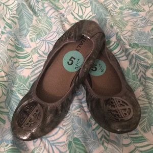 Rialto charcoal grey flats with embellishment